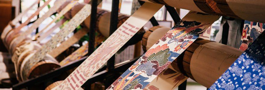 tissu imprimé japonais